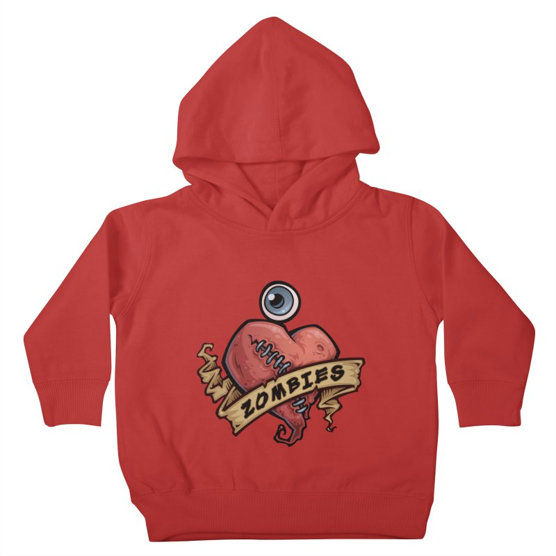 I Love Zombies Kids Toddler Pullover Hoody by Fizzgig's Artist Shop