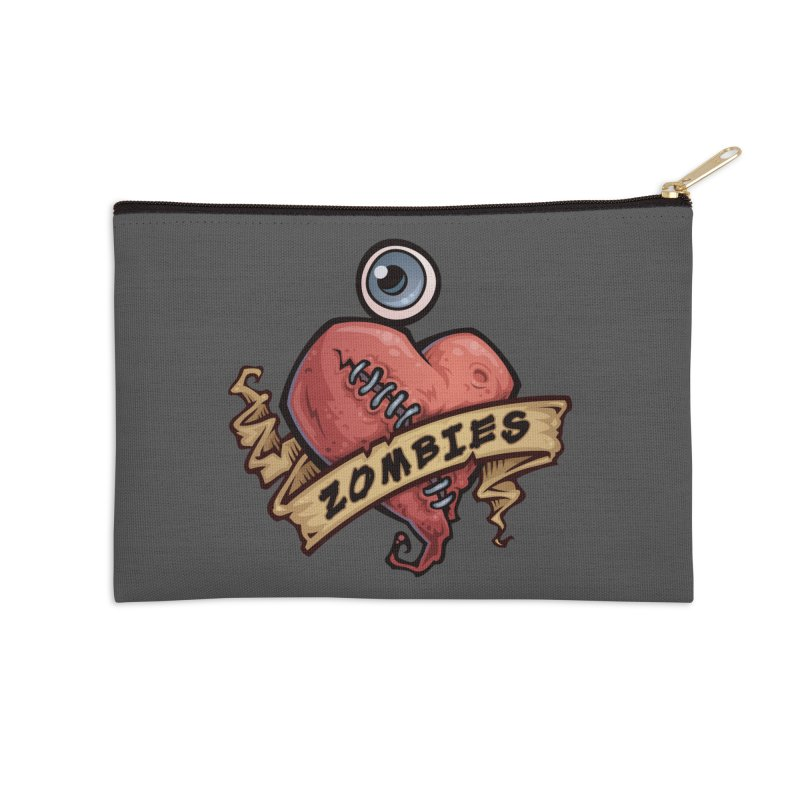 I Love Zombies Accessories Zip Pouch by Fizzgig's Artist Shop