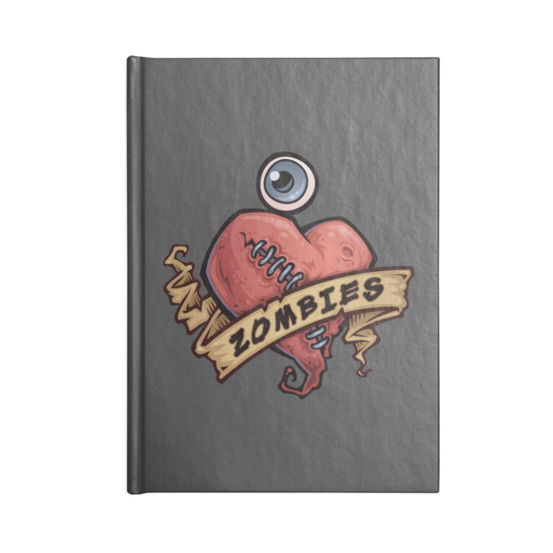 I Love Zombies Accessories Notebook by Fizzgig's Artist Shop