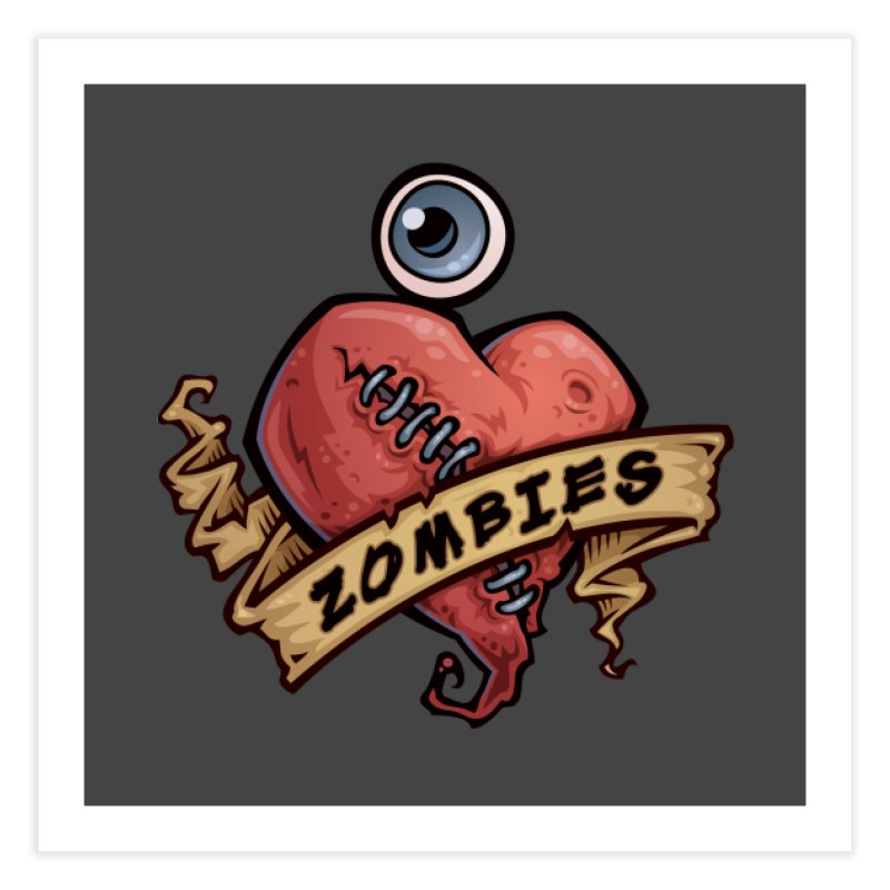I Love Zombies Home Fine Art Print by Fizzgig's Artist Shop