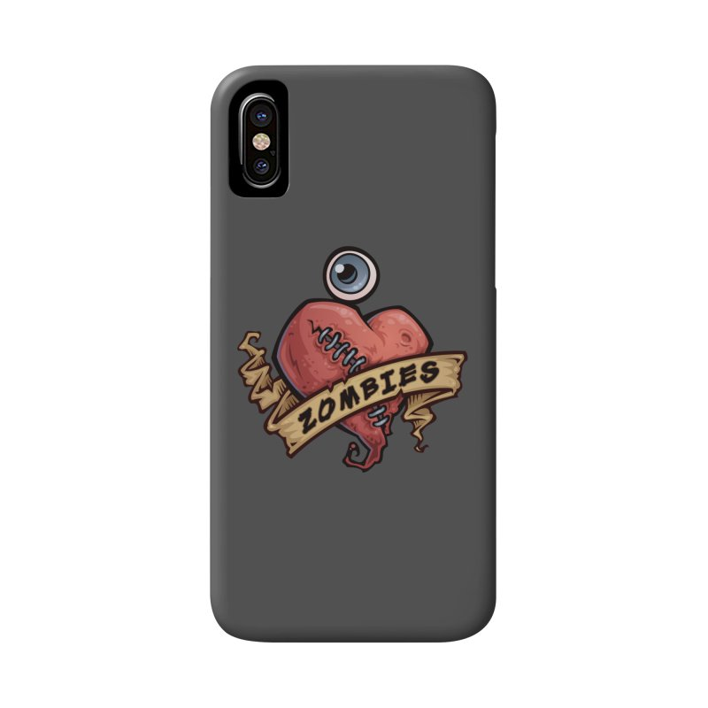 I Love Zombies Accessories Phone Case by Fizzgig's Artist Shop