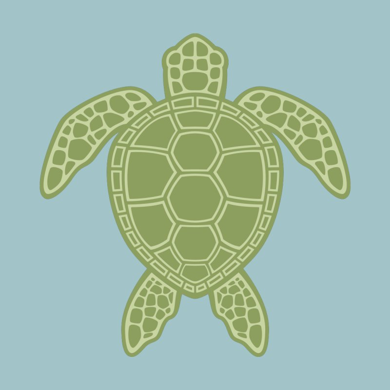 Green Sea Turtle by Fizzgig's Artist Shop