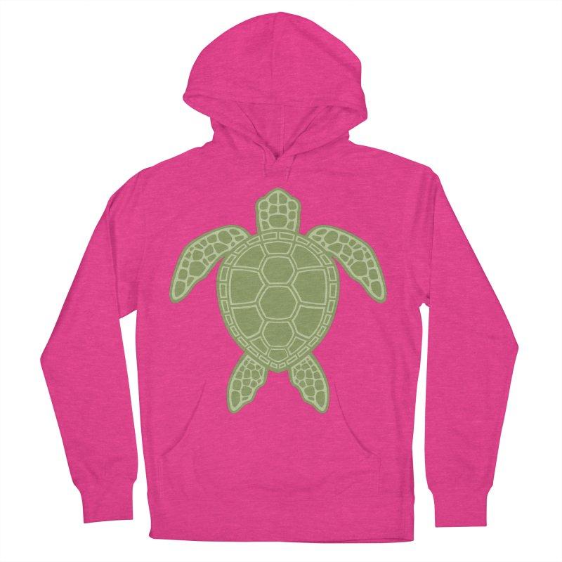 Green Sea Turtle Men's Pullover Hoody by Fizzgig's Artist Shop