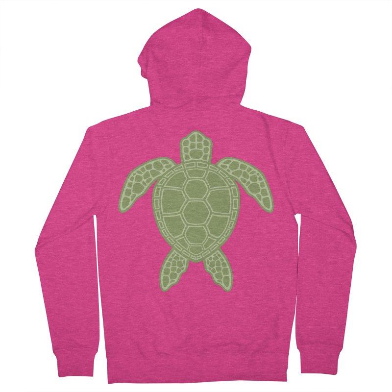 Green Sea Turtle Women's Zip-Up Hoody by Fizzgig's Artist Shop