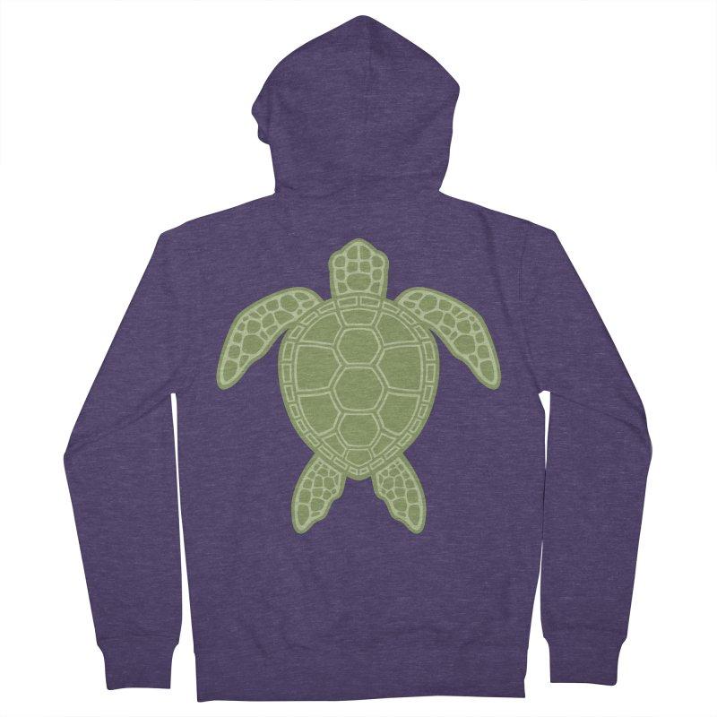 Green Sea Turtle Men's Zip-Up Hoody by Fizzgig's Artist Shop