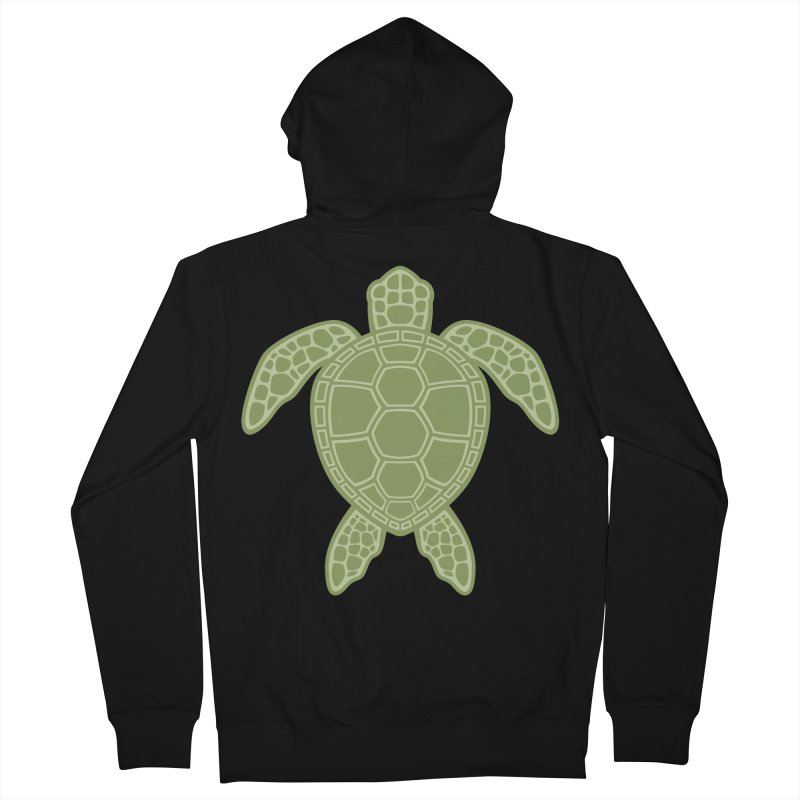 Green Sea Turtle Men's Zip-Up Hoody by Fizzgig's Artist Shop