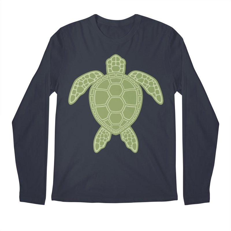 Green Sea Turtle Men's Longsleeve T-Shirt by Fizzgig's Artist Shop