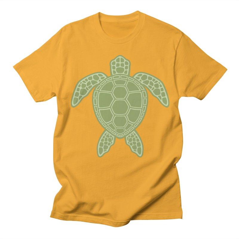 Green Sea Turtle Men's T-shirt by Fizzgig's Artist Shop