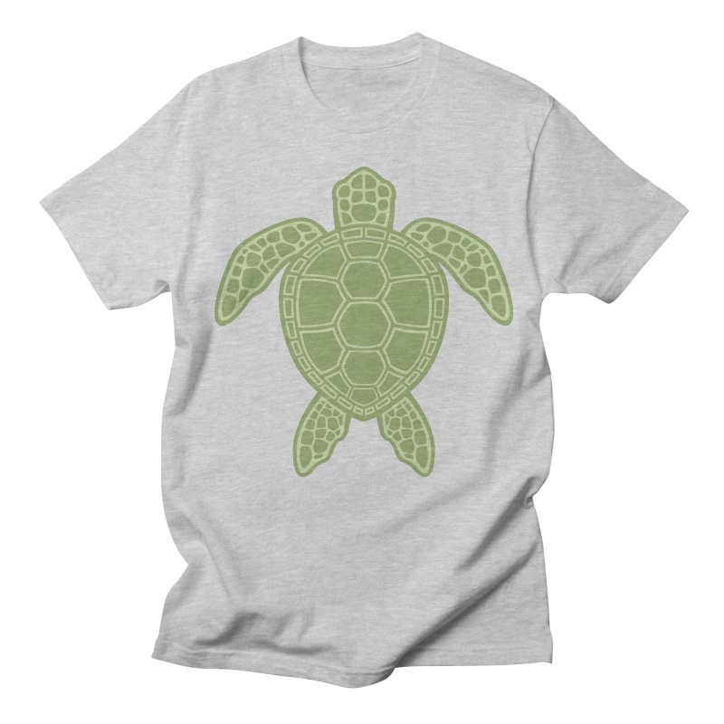 Green Sea Turtle Men's T-shirt by Fizzgig's Artist Shop