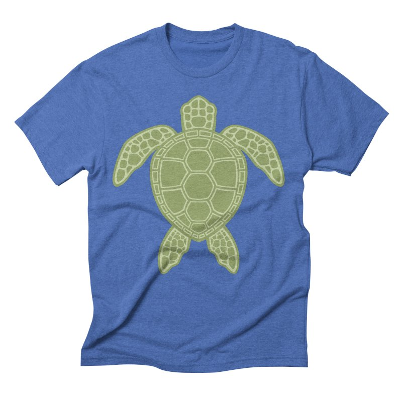 Green Sea Turtle Men's Triblend T-Shirt by Fizzgig's Artist Shop