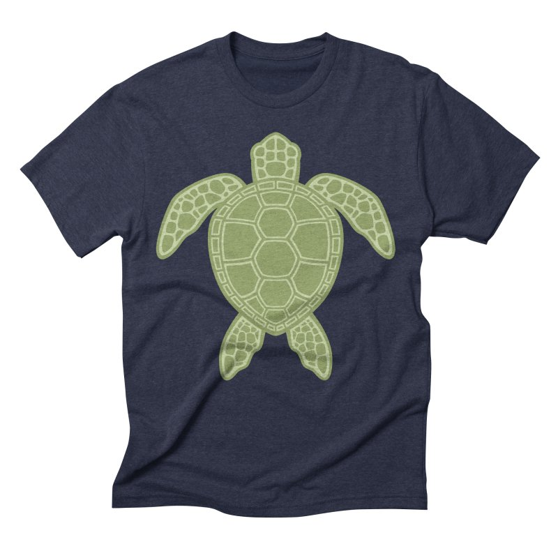 Green Sea Turtle Men's Triblend T-shirt by Fizzgig's Artist Shop