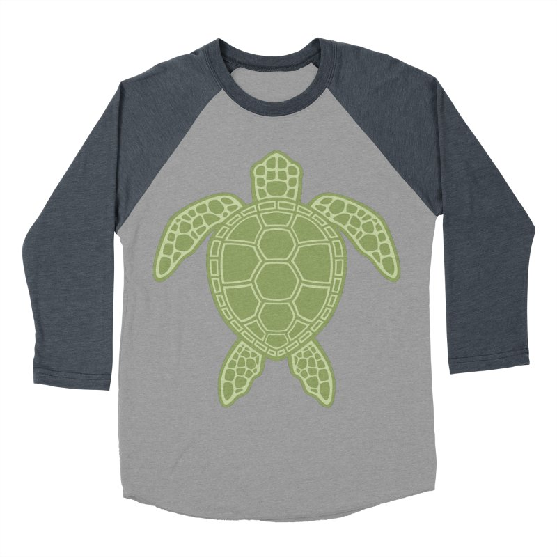 Green Sea Turtle Women's Baseball Triblend T-Shirt by Fizzgig's Artist Shop