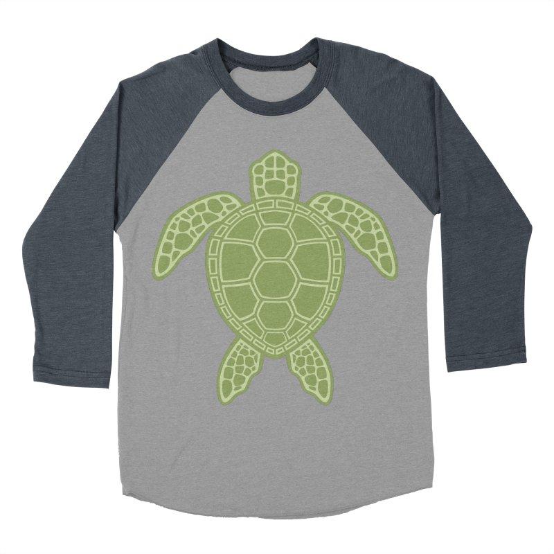 Green Sea Turtle Men's Baseball Triblend T-Shirt by Fizzgig's Artist Shop