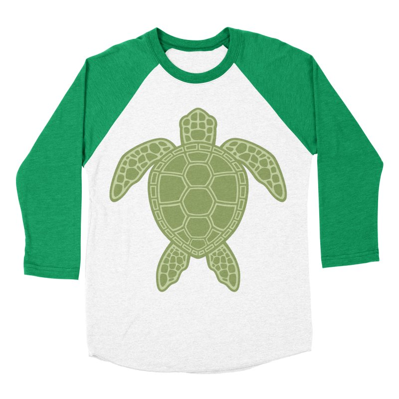Green Sea Turtle Men's Baseball Triblend T-Shirt by Fizzgig's Artist Shop