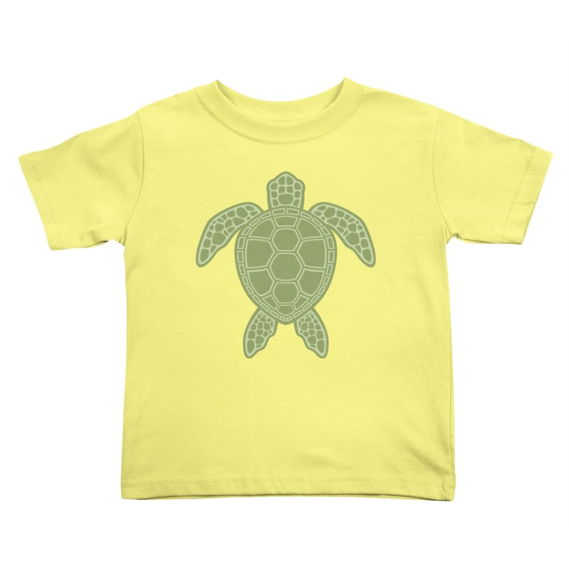 Green Sea Turtle Kids Toddler T-Shirt by Fizzgig's Artist Shop