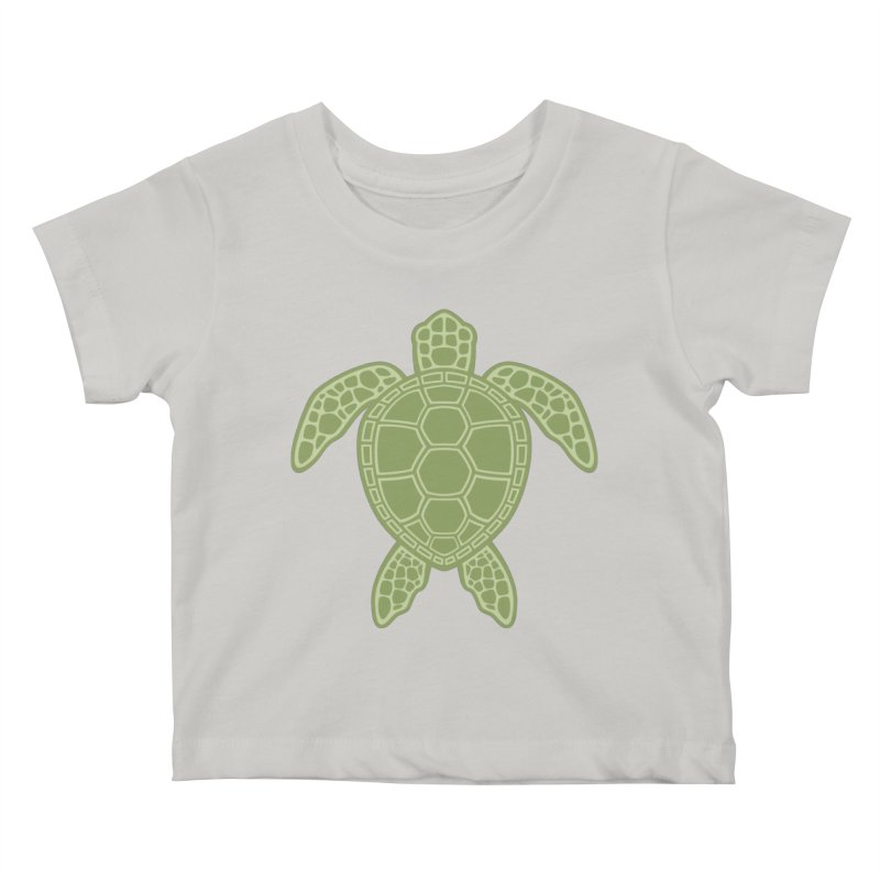 Green Sea Turtle Kids Baby T-Shirt by Fizzgig's Artist Shop