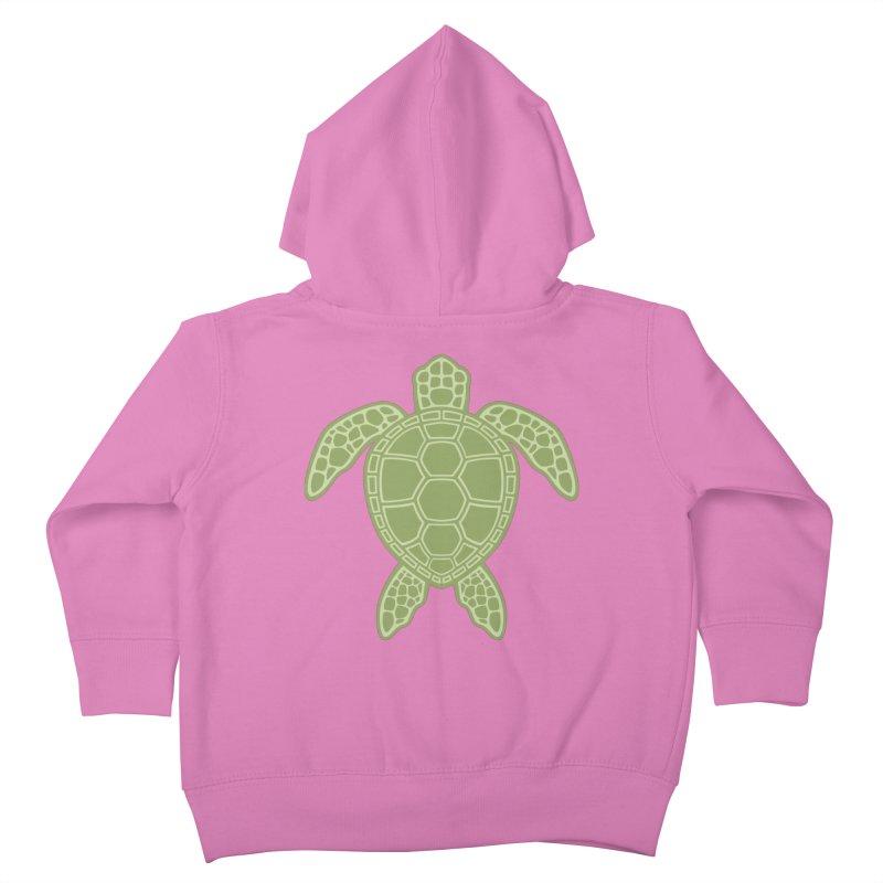 Green Sea Turtle Kids Toddler Zip-Up Hoody by Fizzgig's Artist Shop