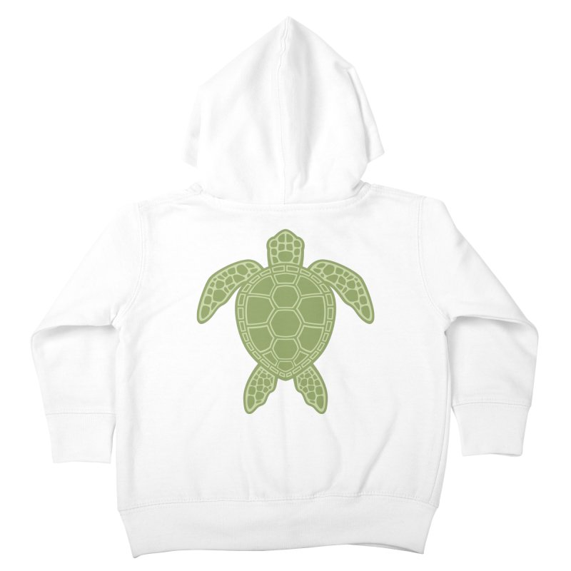 Green Sea Turtle Kids Toddler Zip-Up Hoody by Fizzgig's Artist Shop