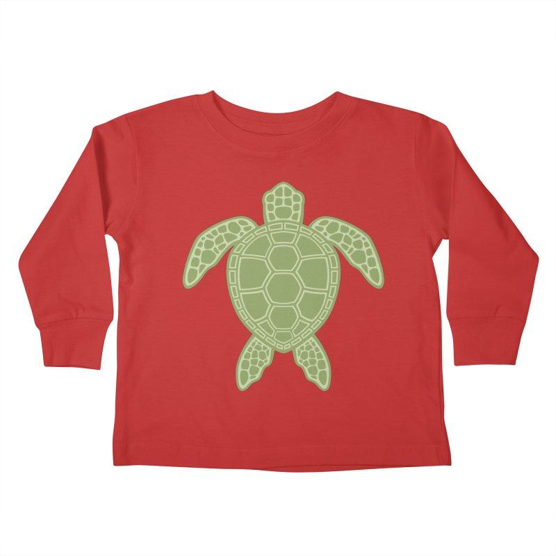 Green Sea Turtle Kids Toddler Longsleeve T-Shirt by Fizzgig's Artist Shop