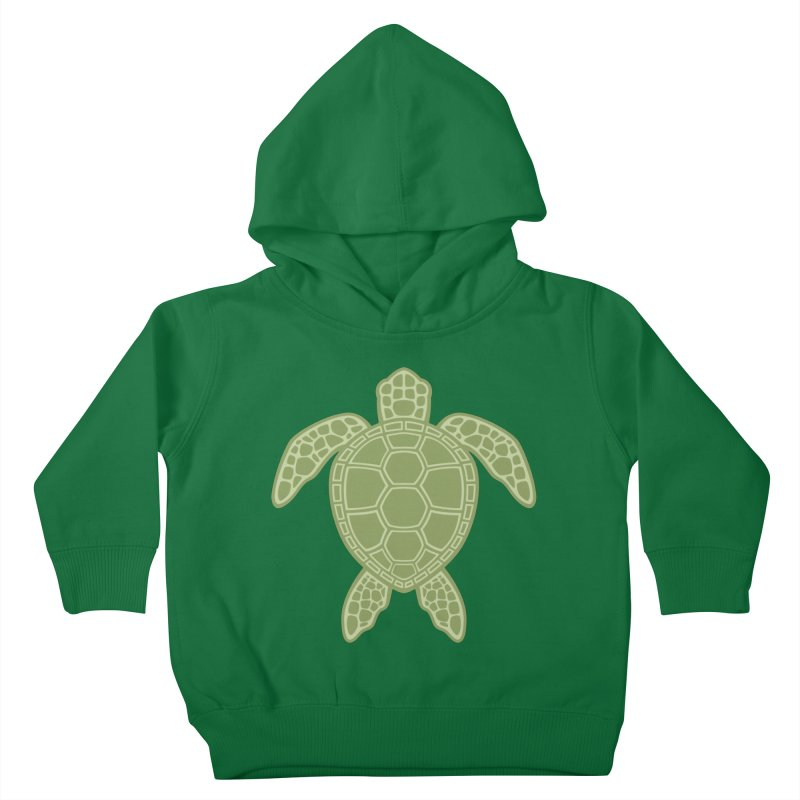 Green Sea Turtle Kids Toddler Pullover Hoody by Fizzgig's Artist Shop