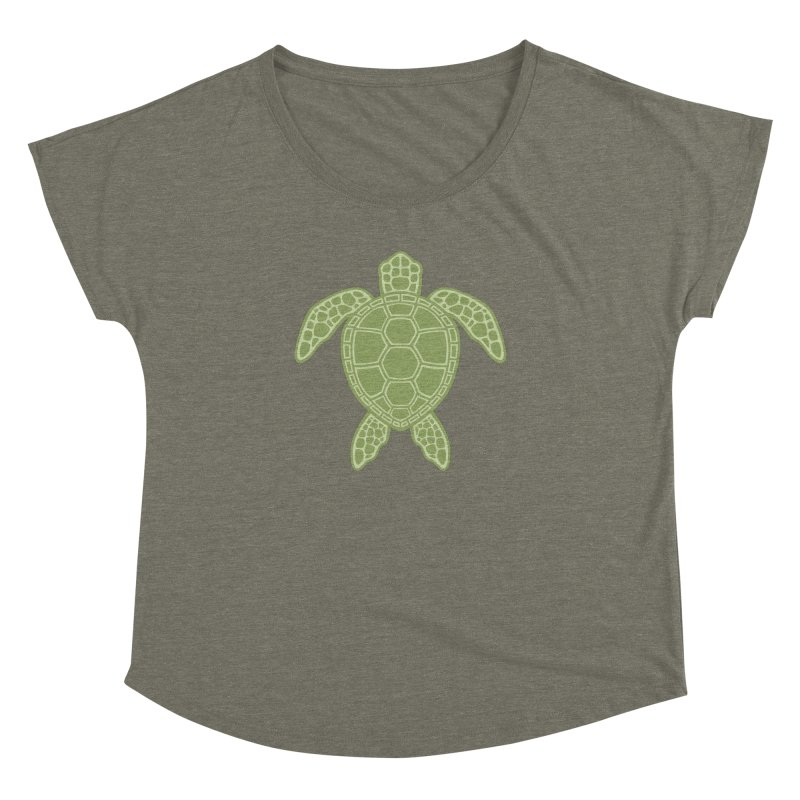 Green Sea Turtle Women's Dolman by Fizzgig's Artist Shop