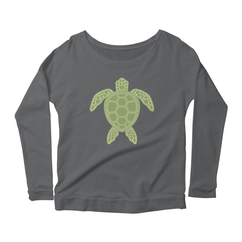 Green Sea Turtle Women's Longsleeve Scoopneck  by Fizzgig's Artist Shop