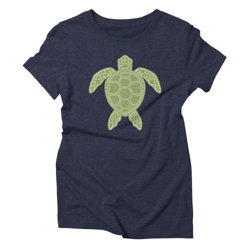 Green Sea Turtle Women's Triblend T-Shirt by Fizzgig's Artist Shop