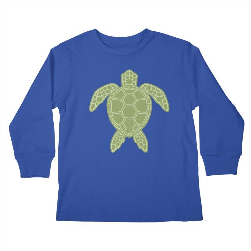 Green Sea Turtle Kids Longsleeve T-Shirt by Fizzgig's Artist Shop