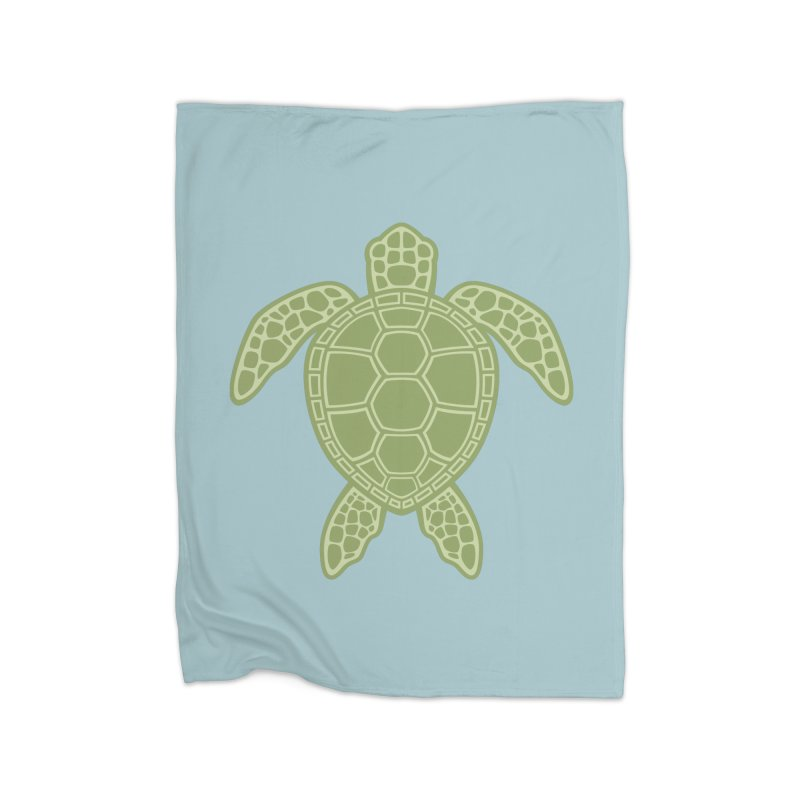 Green Sea Turtle Home Blanket by Fizzgig's Artist Shop