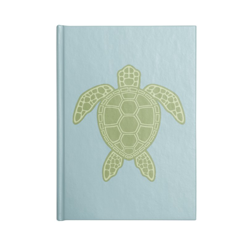 Green Sea Turtle Accessories Notebook by Fizzgig's Artist Shop