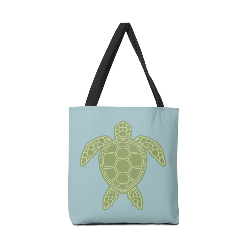 Green Sea Turtle Accessories Bag by Fizzgig's Artist Shop