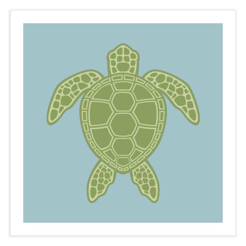 Green Sea Turtle Home Fine Art Print by Fizzgig's Artist Shop