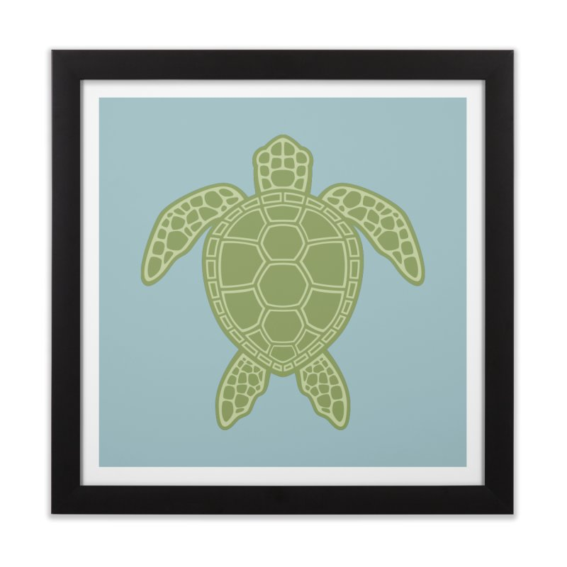 Green Sea Turtle Home Framed Fine Art Print by Fizzgig's Artist Shop