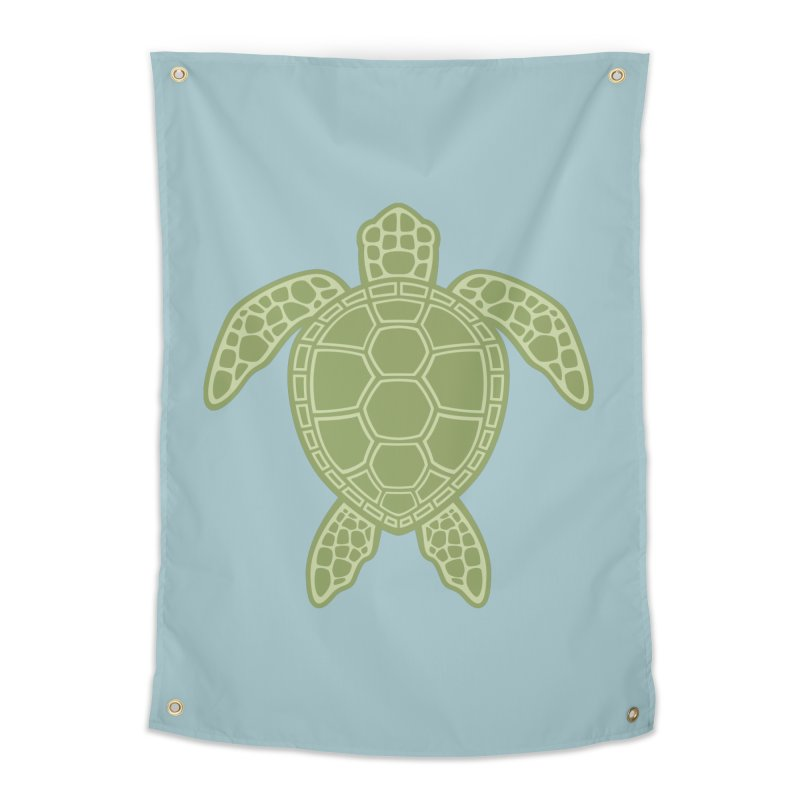 Green Sea Turtle Home Tapestry by Fizzgig's Artist Shop