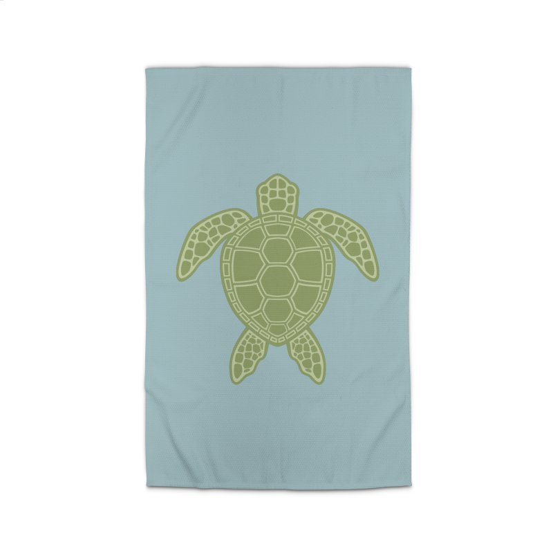 Green Sea Turtle Home Rug by Fizzgig's Artist Shop