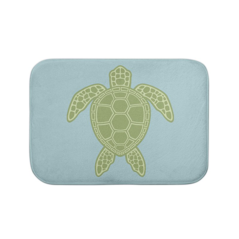 Green Sea Turtle Home Bath Mat by Fizzgig's Artist Shop
