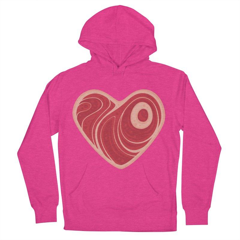 Meat Heart Women's Pullover Hoody by Fizzgig's Artist Shop