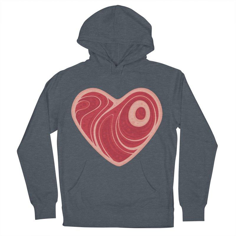 Meat Heart Men's Pullover Hoody by Fizzgig's Artist Shop