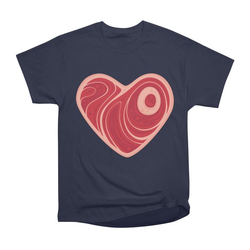 Meat Heart Men's Classic T-Shirt by Fizzgig's Artist Shop