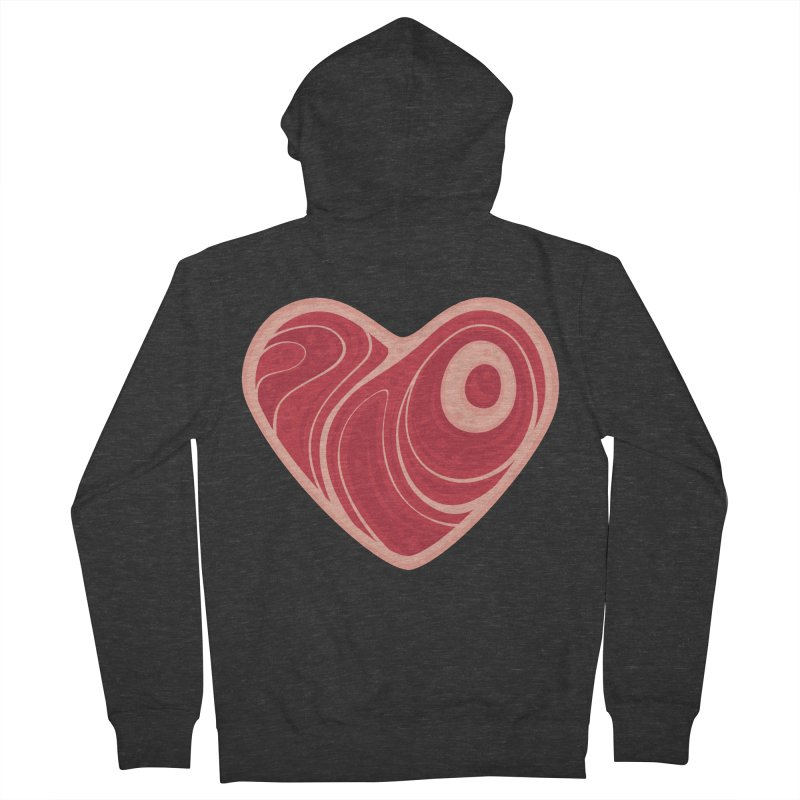 Meat Heart Women's Zip-Up Hoody by Fizzgig's Artist Shop
