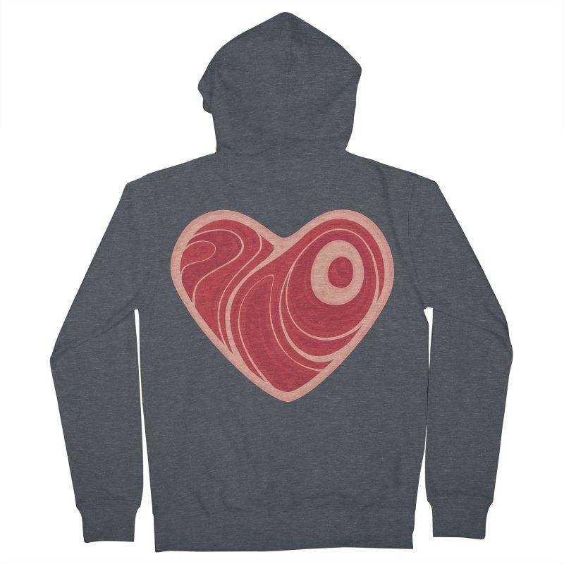 Meat Heart Women's Zip-Up Hoody by Fizzgig's Artist Shop