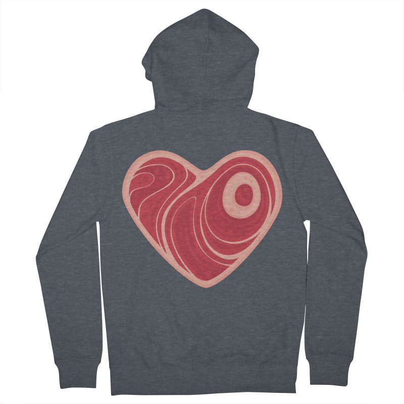 Meat Heart Men's Zip-Up Hoody by Fizzgig's Artist Shop