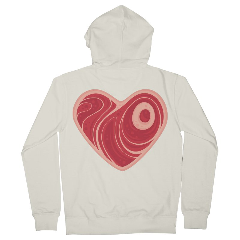 Meat Heart Men's Zip-Up Hoody by Fizzgig's Artist Shop