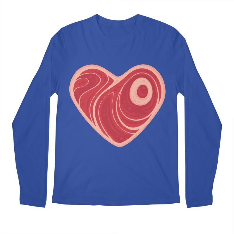 Meat Heart Men's Longsleeve T-Shirt by Fizzgig's Artist Shop