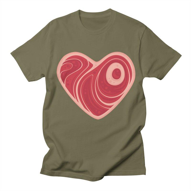 Meat Heart Women's Unisex T-Shirt by Fizzgig's Artist Shop