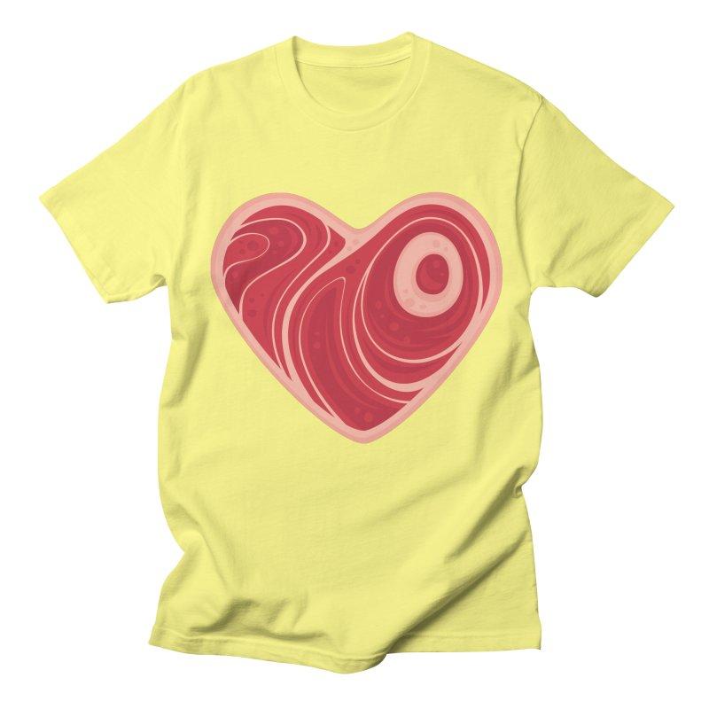 Meat Heart Men's T-shirt by Fizzgig's Artist Shop