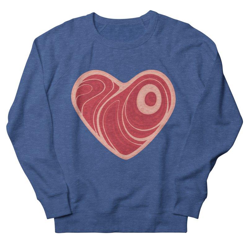 Meat Heart Men's Sweatshirt by Fizzgig's Artist Shop
