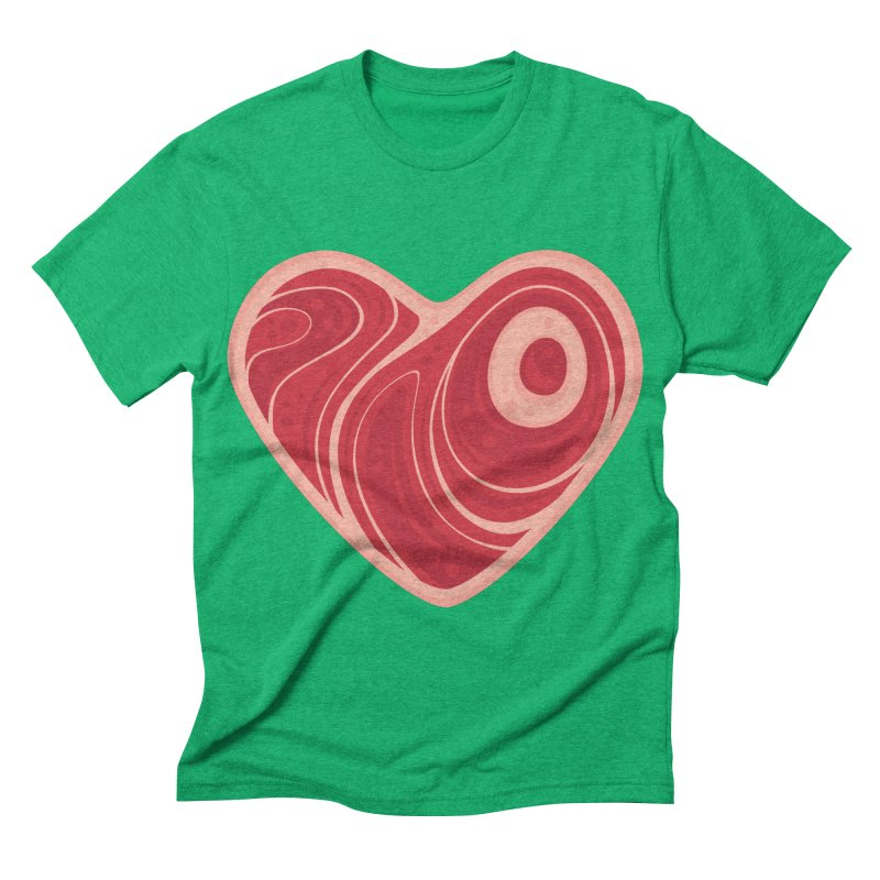 Meat Heart Men's Triblend T-shirt by Fizzgig's Artist Shop