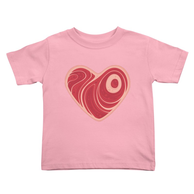 Meat Heart Kids Toddler T-Shirt by Fizzgig's Artist Shop
