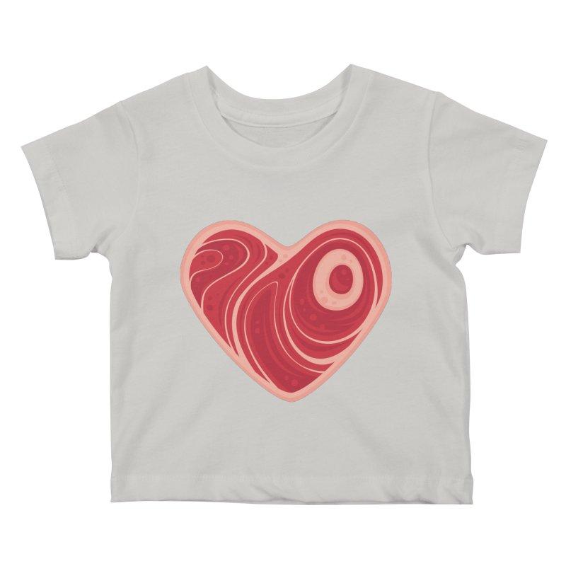 Meat Heart Kids Baby T-Shirt by Fizzgig's Artist Shop